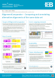 AlignmentComparator was presented at the MSA Workshop at IPAM, UCLA