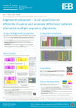 First version of AlignmentComparator released and presented at the 4th MGSE symposium
